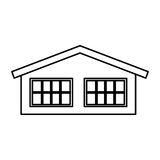 Cute house exterior icon. Vector illustration design Stock Photography