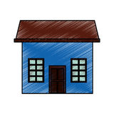 Cute house exterior icon. Vector illustration design Royalty Free Stock Images