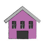 Cute house exterior icon. Vector illustration design Stock Images