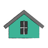 Cute house exterior icon. Vector illustration design Royalty Free Stock Photography