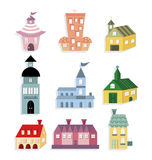 Cute house icon Royalty Free Stock Images