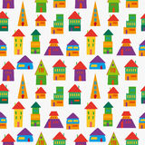 Cute house pattern Royalty Free Stock Photos