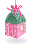 Cute House Present Stock Images
