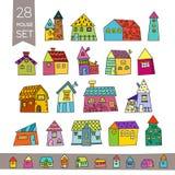 Cute House Set. Hand drawn house. Royalty Free Stock Photos