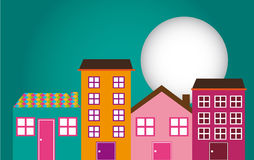 Cute houses Stock Image