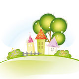 Cute houses Royalty Free Stock Photography