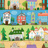 Cute houses castles and establishments design Royalty Free Stock Image