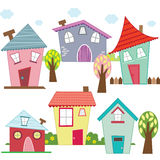 Cute Houses and Homes Royalty Free Stock Images