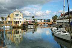Cute houses in Knysna channel Stock Image