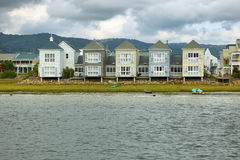 Cute houses in Knysna lagoon bay Stock Images