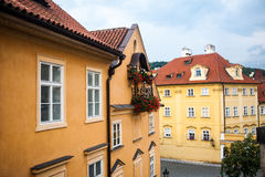 Cute houses in Prague Stock Photos