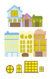 Cute houses vector Stock Image