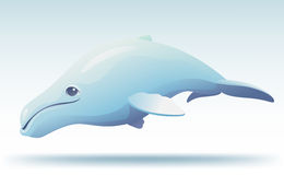 Cute humpback whale. Vector illustration of cute cartoon humpback whale Stock Image