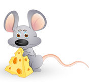 Cute Hungry Mouse. Conceptual Design Art of Cute Hungry Mouse Vector Illustration Stock Photos