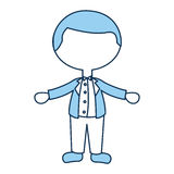 Cute husband avatar character Royalty Free Stock Images