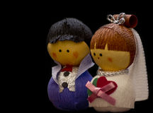 Cute husband and wife dolls Stock Photos