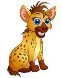 Cute hyena cartoon sitting Royalty Free Stock Images