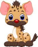 Cute Hyena cartoon. Cute Hyena with white background Stock Photos
