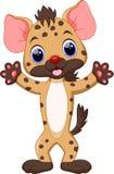 Cute Hyena cartoon Stock Images