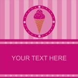 Cute ice cream frame Stock Image
