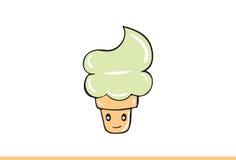 Cute Ice cream Illustration. Stock Images