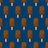 Cute ice cream pattern Royalty Free Stock Photos