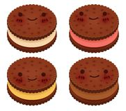 Cute Ice Cream Sanwich Collection. Vector File EPS10 Royalty Free Stock Image