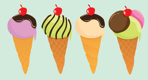 Cute Ice Creams Royalty Free Stock Photos