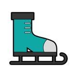 Cute ice skate cartoon Stock Photos