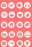 Cute icon set, pink icon set. Vector Stock Photography