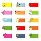 Cute icon sticker Stock Photos