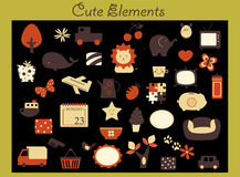 Cute icon5 Royalty Free Stock Images