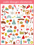 Cute icons Royalty Free Stock Photos