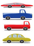 Cute Icons Set a Car Stock Image