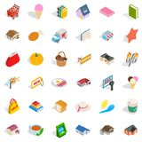 Cute icons set, isometric style. Cute icons set. Isometric style of 36 cute vector icons for web isolated on white background Royalty Free Stock Photography