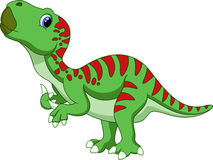 Cute iguanodon cartoon Stock Image