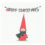 Cute illustrated Christmas elf Royalty Free Stock Photos
