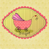Cute illustrated doodle Baby arrival card Royalty Free Stock Image