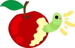 The cute illustration of an apple Stock Image