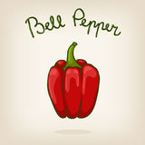 Cute illustration of bell pepper Royalty Free Stock Photography