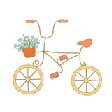 Cute illustration of bicycle Stock Photos