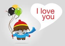 Cute illustration boy Stock Image