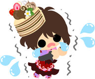 The cute illustration of chocolate sweets Royalty Free Stock Images