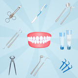Dentist tools. Cute illustration of Dentist tools Stock Image