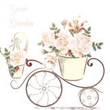 Cute illustration with rose flowers Stock Image