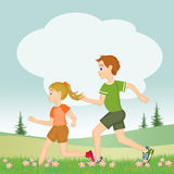 Runs for children Stock Photography
