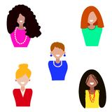 Cute illustrations of beautiful young girls royalty free illustration