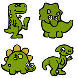 Cute illustrations of dinosaurs made by child Royalty Free Stock Photography