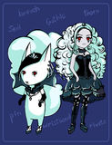 Cute image of a gothic girl Stock Images