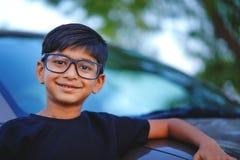 Cute Indian child wear eyeglass.  stock image